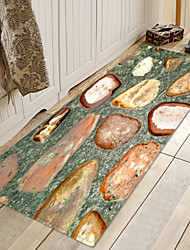 cheap -Stones in Water Print High Quality Memory Foam Bathroom Carpet and Door Mat Non-slip Absorbent Super Comfortable Flannel Bathroom Carpet Bed Rug