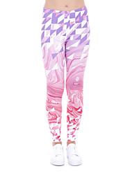 お買い得  -女性用 ヨガパンツ 3D印刷 ピンク エラステイン ヨガ ランニング フィットネス サイクリングタイツ レギンス スポーツ アクティブウェア 速乾性 おなかコントロール バットリフト 吸汗性 高弾性 タイト