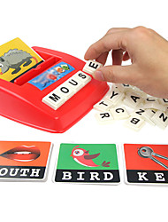 cheap -Educational Flash Card Matching Letter Game Picture Word Matching Game Educational Toy Letter Spelling Letter Reading Game Improve Memory ABS Resin Kid's Preschool Cute Kits Non Toxic 30 pcs 3-6 Y
