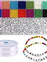 cheap -Personalized Customized DIY Jewelry Findings Kit Handmade Round 1pc / pack Rainbow