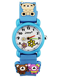 cheap -Kids Sport Watch Automatic self-winding Cartoon Water Resistant / Waterproof Analog Blue Blushing Pink / Rubber
