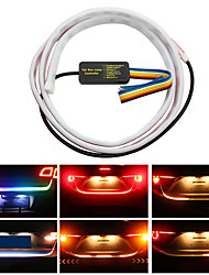 cheap -1pcs 1.2m LED Colorful Car Rear Lamp Amber Turn Signal Flow Trunk Strip light 47in Tailgate luggage Dynamic Streamer Floating 120cm LED Strip