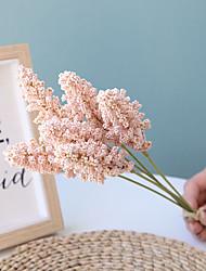 Недорогие -32 см долины уха цветок маленький свежий с травой моделирования цветок сельских украшения 6 палки