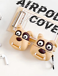 cheap -Protective Cover Case / Qi Wireless Charging Cover Case Animal Design Geek & Chic Apple Airpods 2 Apple Airpods Pro Shockproof Scratch-proof Silicon Rubber