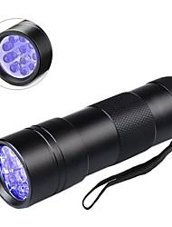 Недорогие -UV MeterMall Flashlight Ультрафиолетовые фонари 600 lm Светодиодная лампа LED 12 излучатели 1 Режим освещения Для профессионалов Прочный Повседневное использование Лиловый Цвет источника света Черный