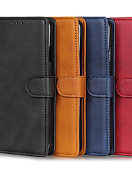 cheap -Phone Case For OPPO Full Body Case Leather OPPO Reno3 OPPO A91 OPPO F15 Card Holder Shockproof Solid Color PU Leather