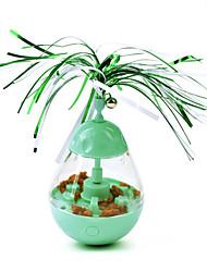 Недорогие -Шарообразные Игрушка с перьями Колокола Мяч медленной подачи и обслуживания Коты Котёнок Животные Игрушки 1 комплект Круглые