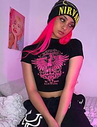 cheap -Women's Skull Print T-shirt Daily Black