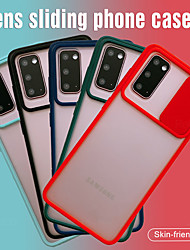 Недорогие -слайд-камера защита объектива противоударный чехол для телефона samsung galaxy s20 plus / s20 ultra / s20 soft tpu матовая задняя крышка