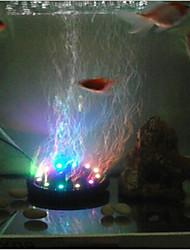 Недорогие -семь цветных аквариумных ламп светодиодные лампы для дайвинга аквариум с лампами воздушные дисковые лампы круглые пузырьковые лампы