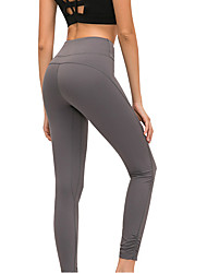 cheap -Women's High Waist Yoga Pants Cropped Leggings Butt Lift 4 Way Stretch Breathable Dark Gray Green Gray Nylon Non See-through Gym Workout Running Fitness Sports Activewear High Elasticity Skinny