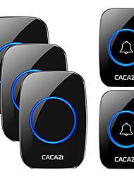 cheap -CACAZI Wireless Waterproof Doorbell 300m Range US EU UK AU Plug Home Intelligent Door Bell Chime 2 Pcs Button 3 Pcs Receiver