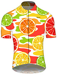 cheap -21Grams Men's Short Sleeve Cycling Jersey Summer Spandex Polyester Orange Solid Color American / USA Stars Bike Jersey Top Mountain Bike MTB Road Bike Cycling UV Resistant Quick Dry Breathable Sports