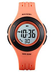 cheap -SKMEI Kids Digital Watch Digital Stylish PU Leather Black / Blue / Red 30 m Calendar / date / day Chronograph Alarm Clock Digital Outdoor - Black Blue Red One Year Battery Life