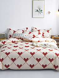 cheap -4pcs modern bedding set Super king size bed linens reactive printing duvet cover set geometry simple style home bed set flat sheet