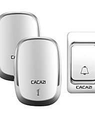 cheap -CACAZI Wireless Doorbell DC Battery Door Bell Control Button 200M Remote LED Light Home Cordless Call Bell 4 Volume 36 Chime