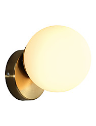 cheap -Matte Modern Nordic Style Wall Lamps & Sconces Living Room Shops Cafes Glass Wall Light 110-120V 220-240V 12 W