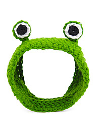 cheap -Cat Ornaments Hats, Caps & Bandanas Hair Accessories Animal Headwarmers Headpieces Winter Dog Clothes Green Costume Plush S M