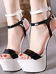 cheap -Women's Heels Spring & Summer Stiletto Heel Round Toe Daily PU Black / White / Red / Black