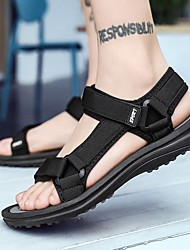 cheap -Men's Summer Outdoor Sandals Canvas Non-slipping Black / Red / Gray