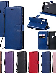 cheap -Case For Motorola MOTO G9 Play G9 Plus/ MOTO G8 Power/MOTO E6 plus Wallet / Card Holder / with Stand Full Body Cases Solid Colored PU Leather For MOTO One Power/P30 note/P30 Play/Z4 Play/Z3 Play/E7