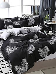 Недорогие -темная система оставляет шаблон печати постельное белье из четырех частей пододеяльник простыня наволочка общежитие одноместный двухместный
