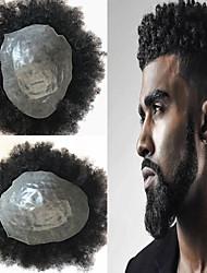 Недорогие -Муж. Натуральные волосы Накладки для мужчин Кудрявый Лучшее качество / новый / Горячая распродажа / Природные волосы