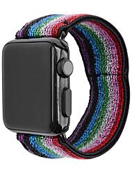abordables -Nylon Bracelet de Montre  Sangle pour Apple Watch Series 5/4/3/2/1 15cm / 5,91 pouces 2.2cm / 0.9 Pouces