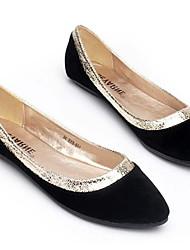 cheap -Women's Flats Summer Flat Heel Round Toe Daily PU Black