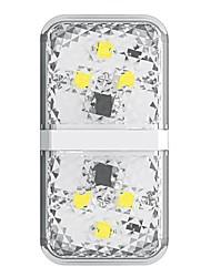 Недорогие -Baseus 6 из светодиодов открывание двери автомобиля предупреждающий световой сигнал анти-столкновения чередуя мигающие сигнальные лампы белого цвета 2 шт.