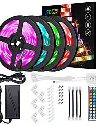 cheap -KWB Led Light Strip Kit Waterproof 20M(4*5M) 5050 10mm RGB 600 LEDs Strip Lights with 44Key IR Remote Controller Kit and 12V 10A EU US AU UK Power Supply with A set Mounting Bracket