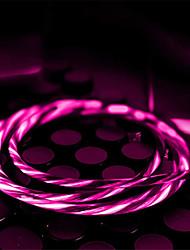 Недорогие -Стример быстрая зарядка кабель micro usb тип c usb c для note10 зарядки для ios линии передачи данных шнур питания световой провод