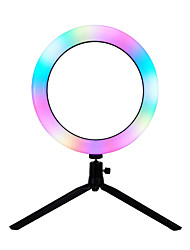 cheap -RGB Colorful Changing Ring Light Live Fill Ring Lamp Photography Bracket Housing With Remote Control 16cm