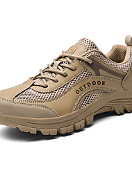 cheap -Men's Spring & Summer / Fall & Winter Sporty / Casual Athletic Outdoor Trainers / Athletic Shoes Hiking Shoes / Walking Shoes Mesh / PU Almond / Black