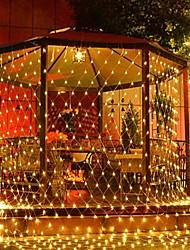 cheap -6m*4m 672 LEDs Net Lights Curtain lights WhiteWarm WhiteBlueMulti Color Party Decorative Linkable 220-240V 1pc