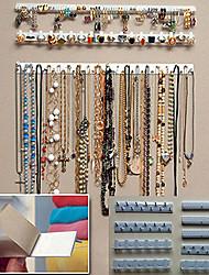 Недорогие -9 шт. Клей ювелирные изделия серьги ожерелье держатель вешалка организатор упаковка дисплей стойки ювелирных изделий липкие крючки настенное крепление