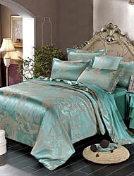 Недорогие -Комплект постельного белья из атласа и жаккарда из четырех частей европейский простой пододеяльник 1.8 м постельное белье хлопок