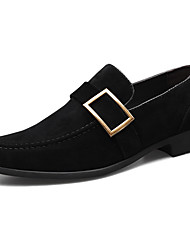 cheap -Men's Loafers & Slip-Ons British Daily Walking Shoes PU Breathable Non-slipping Wear Proof Black Yellow Coffee Spring Fall
