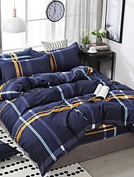 Недорогие -простой стиль с рисунком постельное белье из четырех частей пододеяльник простыня наволочка общежитие одноместный двухместный