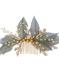 cheap -Sweet Style Simple Style Chiffon / Alloy Hair Combs / Hair Accessory with Metal 1 PC Wedding / Party / Evening Headpiece