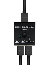 cheap -HDMI Switch Bi-Direction 4K HDMI Switcher 2 in 1 out HDMI Splitter 1x2/2x1 Adapter out Converter for PS4/3 TV Box