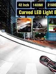 cheap -5D 42 Inch 3030 156Led DC10-30V 1400W 216000LM 6000K Off Road LED Light Bars Car Working Lamp IP68 Waterproof
