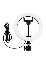 cheap -LED Self-Timer Pole Ring-Shaped Rechargeable Fill Light USB Dimmable Phone Ring Light Plug-In Use 8 inch