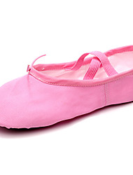 cheap -Women's Ballet Shoes Ballroom Shoes Flat Flat Heel Camel Almond Black Elastic Band