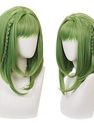 Недорогие -Маскарадные парики Нанамин Сакура Туалет связан Ханако кун Естественные прямые С чёлкой Парик Длинные Зеленый Искусственные волосы 14 дюймовый Жен. Аниме Косплей Лучшее качество Зеленый