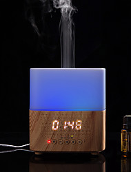 cheap -300ml Ultrasonic Aroma Diffusers Air Humidifiers Time DisplayBluetooth SpeakerLED Night lightAlarm Clock for Home Office