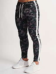 cheap -Men's High Waist Jogger Pants Joggers Running Pants Track Pants Sports Pants Athletic 1pc Athleisure Wear Bottoms Side-Stripe Drawstring Cotton Sport Running Walking Jogging Breathable Soft