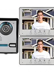 cheap -7 Inch Wire Video Door Phone Home Intercom System 1 Camera 2 Monitor with Unlock Monitor Function P812M11