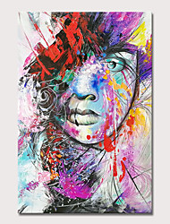 cheap -Mintura Large Size Hand Painted Girl Oil Painting on Canvas Modern Abstract Pop Art Wall Pictures For Home Decoration No Framed Rolled Without Frame