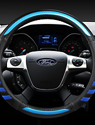cheap -ford  fashion  Car Steering Wheel Covers Leather 38cm Breathable Anti Slip  For universal Four Seasons Auto Accessories